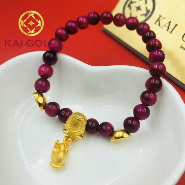 Charm Roi Hoa Sen Tay Phat Vang 24k 9999 Kaigold 1
