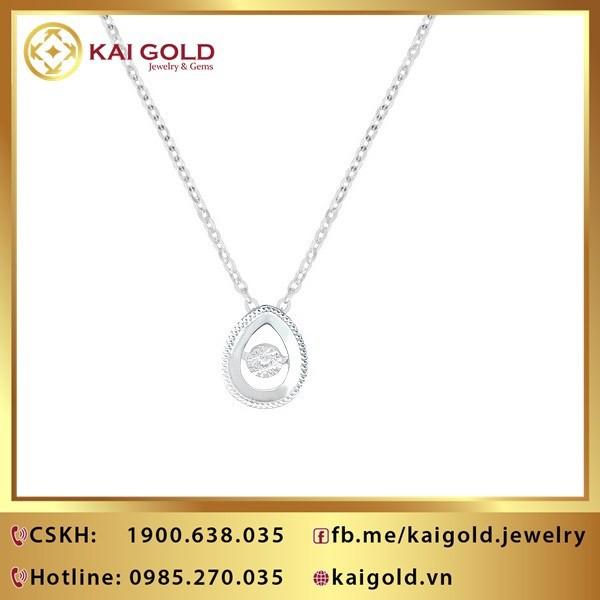 Day Chuyen Hinh Giot Nuoc Vang Y 18k 750 Kim Cuong Kaigold 1