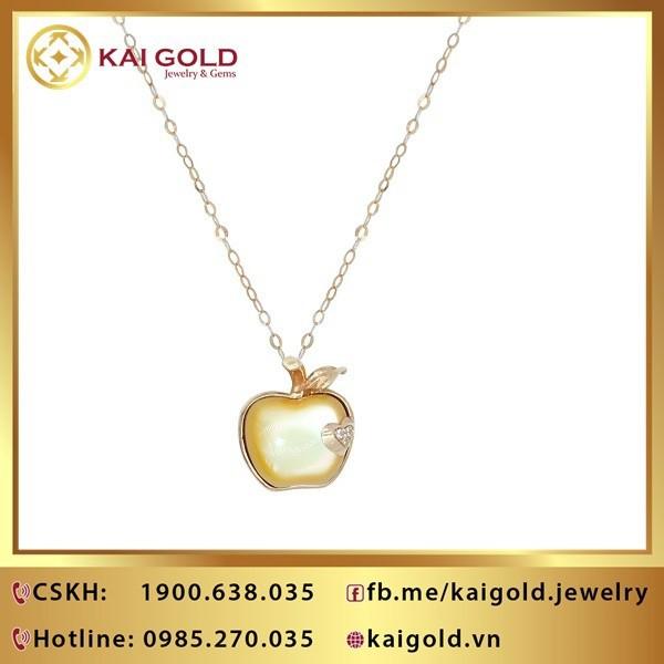 Day Chuyen Trai Tao Vang Y 18k 750 Kim Cuong Kaigold 1