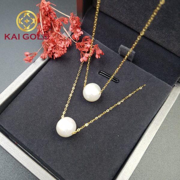 Day Chuyen Vang Y 18k 750 Ngoc Trai Kaigold 1