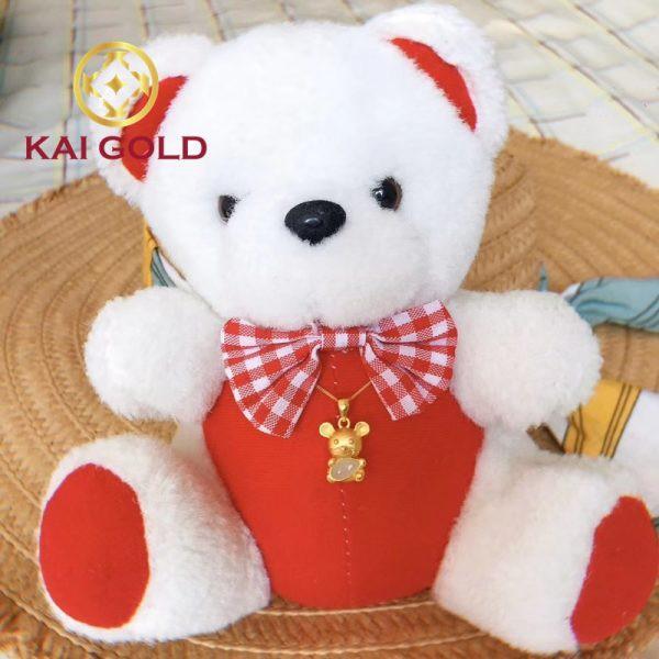 Mat Day Chuyen Kim Ty Om Gao Vang 24k 9999 Cam Thach Bach Ngoc Kaigold 1