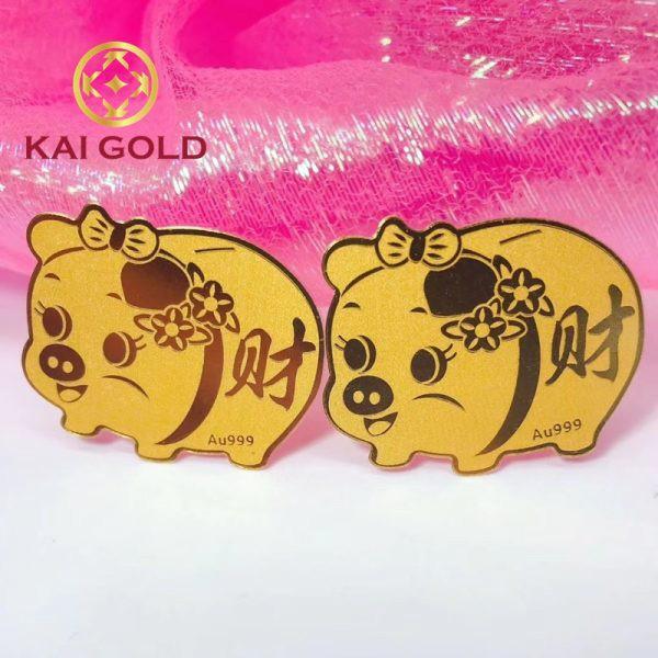 Mieng Dan Dien Thoai Heo Tai Loc Vang 24k Kaigold 1