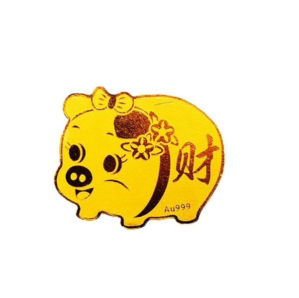 Mieng Dan Dien Thoai Heo Tai Loc Vang 24k Kaigold