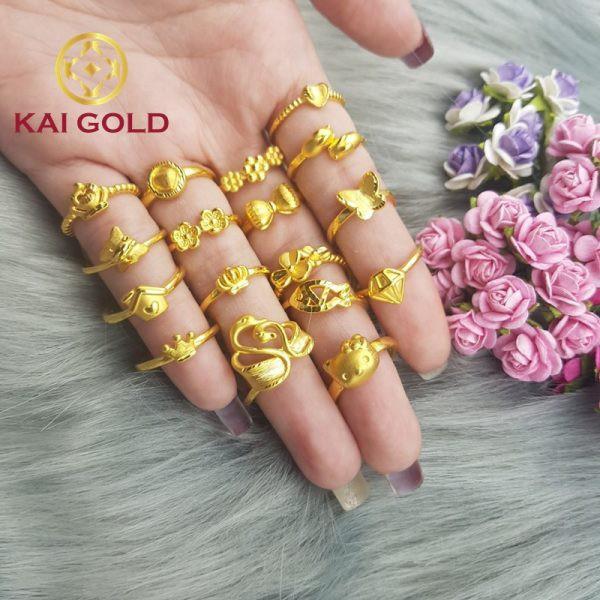 Nhan Vien Kim Cuong Vang 24k 9999 Kaigold 1