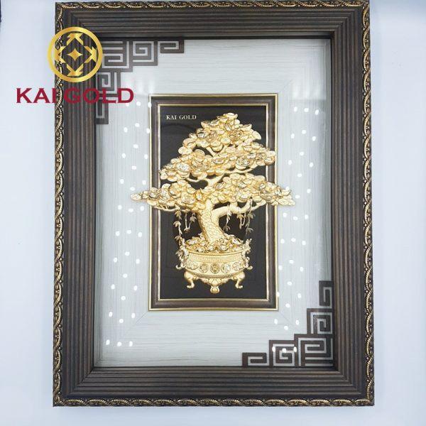 Tranh Cay Kim Tien Dat Vang 24k Kaigold 1