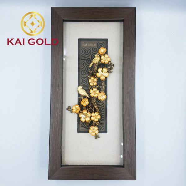 Tranh Hoa Mai Dat Vang 24k Kaigold 1
