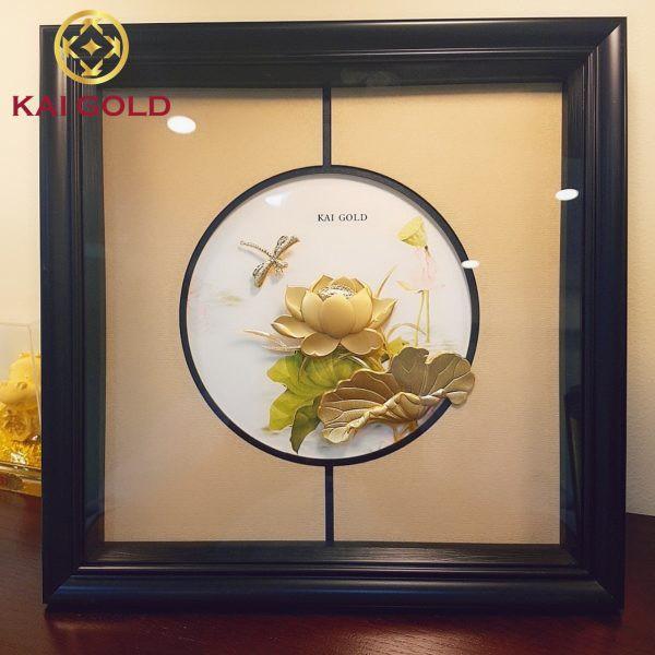 Tranh Hoa Sen Dat Vang 24k Kaigold 1