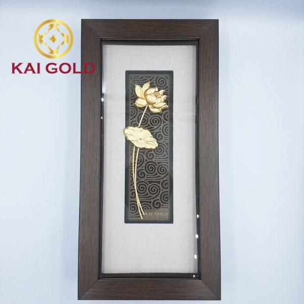 Tranh Lien Hoa Dat Vang 24k Kaigold 1