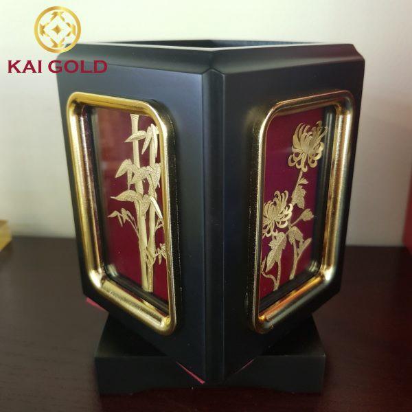 Tranh Mai Lan Cuc Truc Dat Vang Kaigold 1