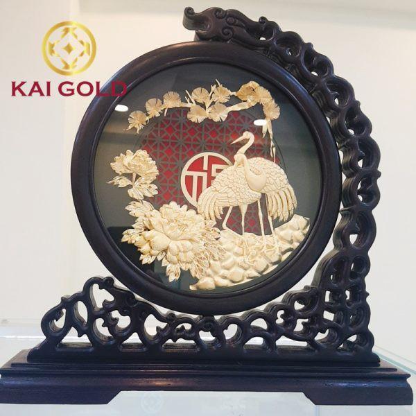 Tranh Song Cong Dat Vang 24k Kaigold 1