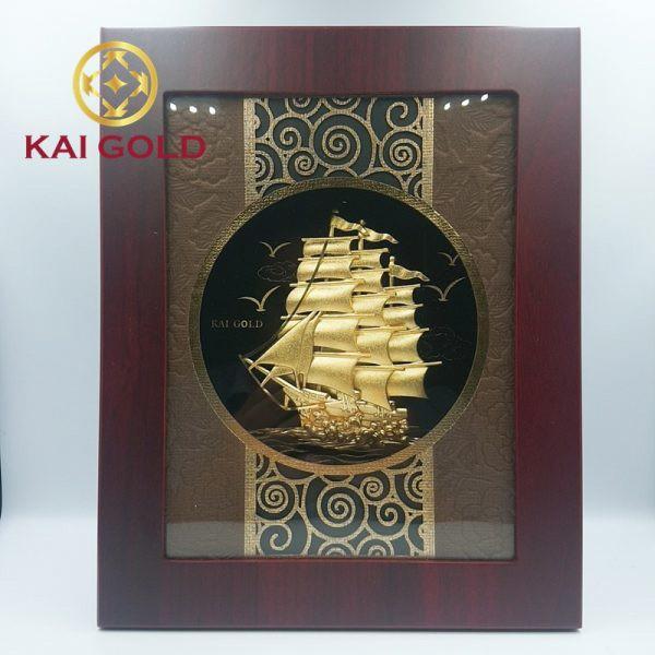 Tranh Thuan Buom Xuoi Gio Dat Vang 24k Kaigold 1