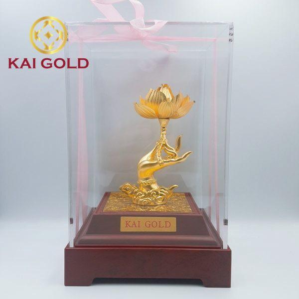 Tuong Tay Phat Lien Hoa Dat Vang 24k Kaigold 1