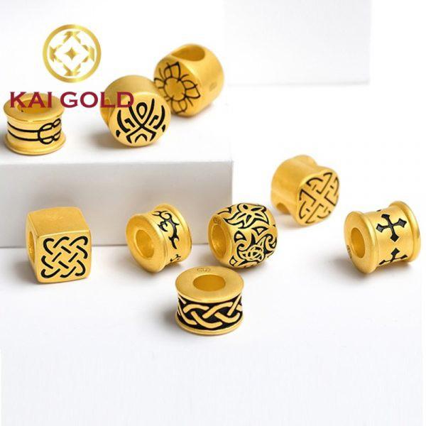 Vong Tay Charm Thoi Trang Tin Niem Vang 24k 9999 Mix Day Da Kaigold 4