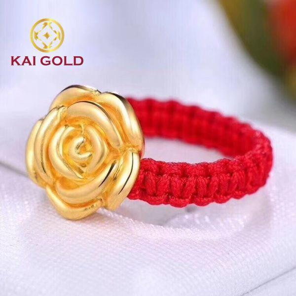 Vong Tay Hoa Hong S2 Vang 24k 9999 Mix Bi Vang Dan Day Handmade Kaigold 1