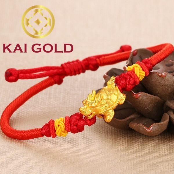 Vong Tay Long Quy Vang 24k 9999 Mix Charm Thoi Trang Dan Day Handmade Kaigold 1