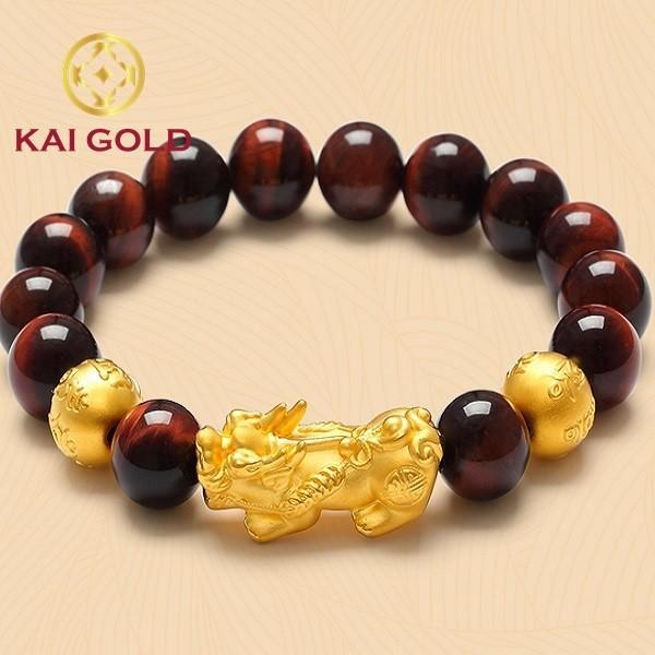 Vong Tay Ty Huu Phong Thuy Size 4 Vang 24k 9999 Bi Kim Tien Kaigold 1