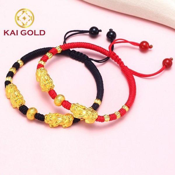Vong Tay Ty Huu Size 2 Vang 24k 9999 Mix Bi Vang Dan Day Handmade Kaigold 1
