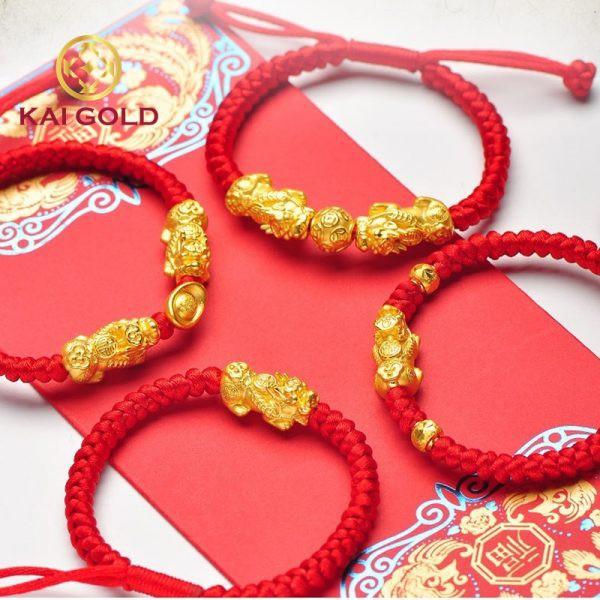 Vong Tay Ty Huu Size 2 Vang 24k 9999 Mix Kim Tien Dan Day Handmade Kaigold 1
