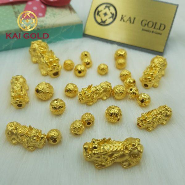 Vong Tay Ty Huu Size 3 Vang 24k 9999 Mix Vong Da Den Kaigold 3