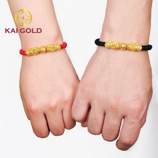 Vong Tay Ty Huu Vang 24k 9999 Size 3 Mix Charm Kim Tien Kaigold 2