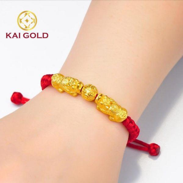 Vong Tay Ty Huu Vang 24k 9999 Size 3 Mix Charm Kim Tien Kaigold 3