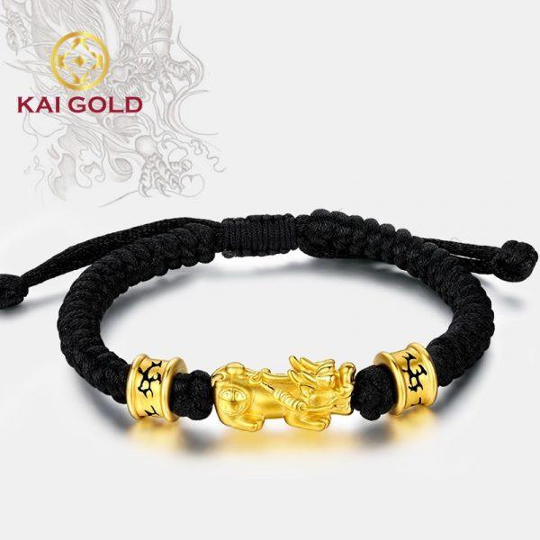 Vong Tay Ty Huu Vang 24k 9999 Size 3 Mix Charm Thoi Trang Kaigold 1