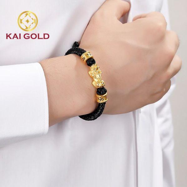 Vong Tay Ty Huu Vang 24k 9999 Size 3 Mix Charm Thoi Trang Kaigold 2