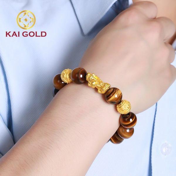Vong Tay Ty Huu Vang Size 3 24k 9999 Mix Vong Da Mat Ho Kaigold 2