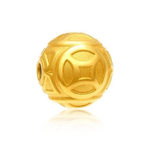Hột Tròn Kim Tiền Vàng 24k 9999 10mm