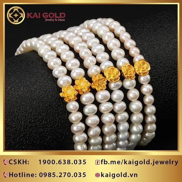 Charm Hoa Sen Vang 24k 9999 Mini Kaigold 2