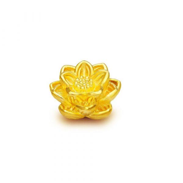 Charm Hoa Sen Vang 24k 9999 Mini Kaigold