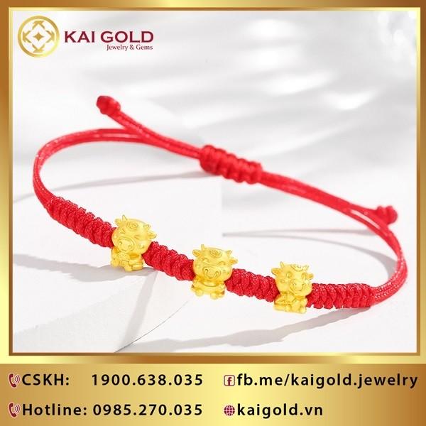 Charm Con Trau Vang 9999
